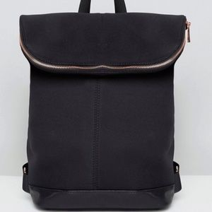 Black Backpack with Rose Gold Zipper